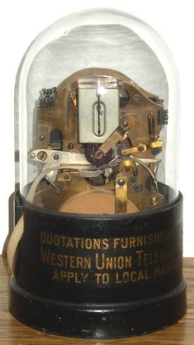 antique ticker machine